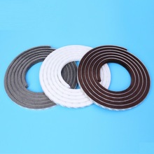 Wool Pile Weather Strip Felt Draught Excluder Sliding Door Window Sash Screen Adhesive Brush Seal 9mm x 9mm 1m Marron White Gray