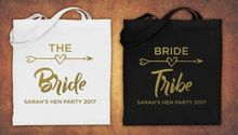custom Hen Do Party Bride Tribe bridesmaid tote bags wedding gift Bags Bachelorette bridal shower Champagne Party favors pouches