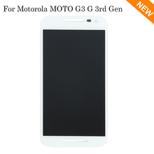 For Motorola Moto G3 LCD Display + Touch Screen with Digitizer Assembly White, Free Shipping + Tracking No.