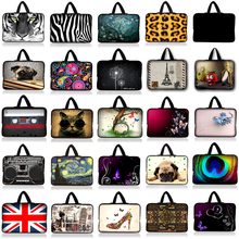"7""10""11.6""12""13""13.3""14 ""15""15.4""15.6""17""17.3""17.4""Notebook Laptop Sleeve Bags Neoprene Soft Handdle Laptop Tablet PC Case Bag"