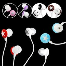 YCDC 7 Colors Universal 3.5mm In-ear Star Earphone Stereo Music Headphone For iPhone 3G 3GS 4 4G 4S HTC Free Shipping EH1028