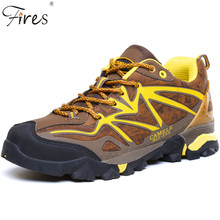 Fires New Woman 2016 Sport Leather Outdoor Shoes Winter Waterproof Hiking Shoes For Man Mountain Climbing Boots
