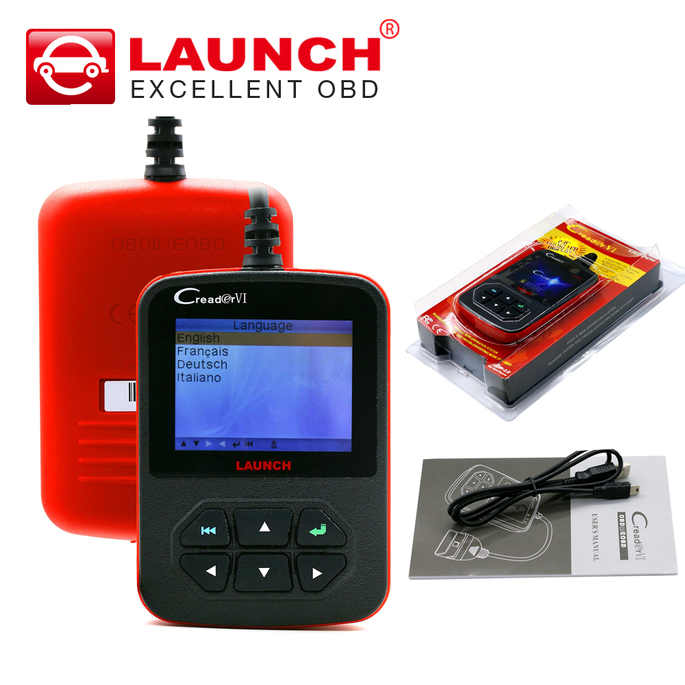 Launch X431 Creader VI creader 6 OBD2 16pin code reader auto scanner Online update free shipping(China (Mainland))