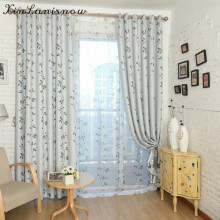 Modern Contracted Printing Shading Tulle for Living Dining Room Bedroom curtain(China)