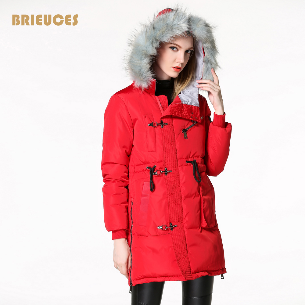 2016 New Winter Jacket Women Aircraft Button Large Fur Collar Hooded Jacket Thickening Down-cotton Coat For Women Outwear ParkasОдежда и ак�е��уары<br><br><br>Aliexpress
