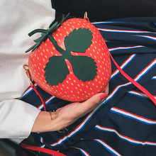 Korean fashion personality strawberry fruit bag pack 2017 new soft sister small bag all-match single shoulder bag(China)