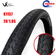 New KENDA bicycle tire 26 rim 26*1.95 mtb tires 26 ultralight 610g mountain bike tire heart-shaped soft side tyres reflective
