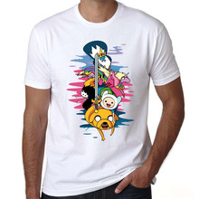 adventure time t-shirt men/women cute t shirt print cartoon shirts Unisex graphic t shirt new fashion top tee