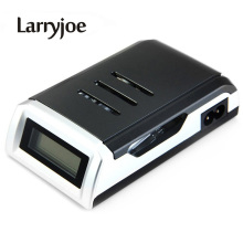 Larryjoe LCD Display With 4 Slots Smart Intelligent Battery Charger For AA / AAA NiCd NiMh Rechargeable Batteries