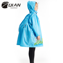 QIAN RAINPROOF Impermeable Eco-friendly Children Raincoat Healthy Kids Rainwear Light Weight Rain Gear Poncho Sleeves Rain Coat(China)