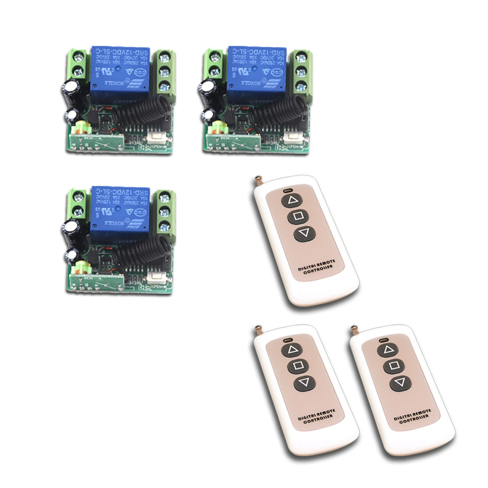 Newest Wireless Remote Control Switch Mini Relay 12V 1CH 10A Receiver Transmitter Remote ON/OFF Teleswitch 315Mhz / 433Mhz<br>