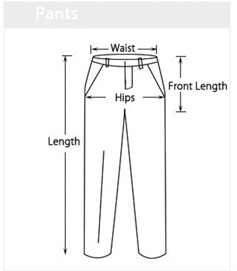 pants chart measurement