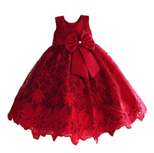 Baby Girls Lace Dress Kids Wedding Dress Girl Princess Clothes For 3-8T(China)