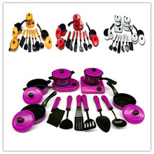 Kitchen Utensils Toys Educational Kids Toy Plastic Kitchen Play Set Artificial Tableware Cooking Pots Children Pans Food