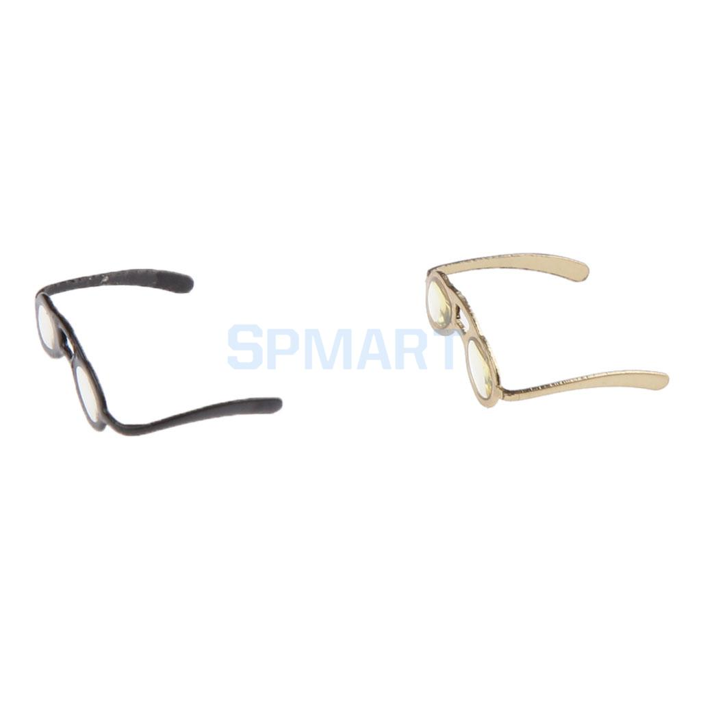 Miniature Dollhouse Pair of Glasses Spectacles in Case