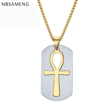 Pendant Of The Life Stainless Steel Pendant Ankasa Egypt Wholesale Necklaces&Pendants Choker Necklace Jewelry Men YK5154