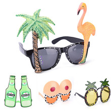 Funny Party Costumes Sunglasses Glitter Event Supplies Decoration Decorative Flamingo Big Chest Wine Bottle Pineapple Beach