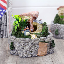 Micro - landscape Craft Office Desktop gifts Ashtray Decoration Tigers Resin Totoro Ashtray handicrafts Round Lighter Ash Box(China)