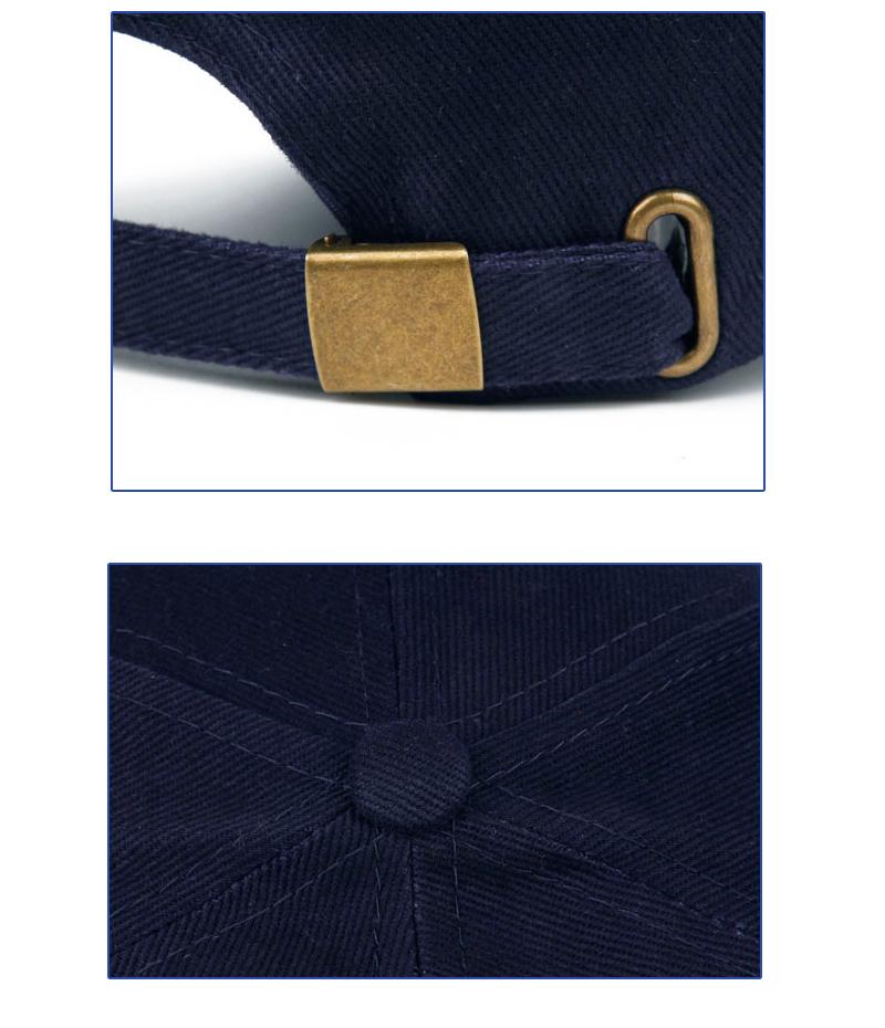 Golfer Emblem Baseball Cap - Clasp and Button Top Details
