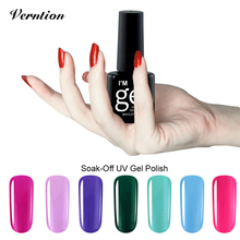 Verntion Rose Red 8ml Series nail polish 29 Color Nail Gel Polish Professional UV Gel  semi permanent Varnish vernis