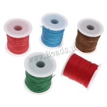 YYW Women Designer Jewelry Accessories Makings DIY Jewelry Cord Plastic Spool 1mm Waxed Cotton Cord Findings Wax Rope Cords