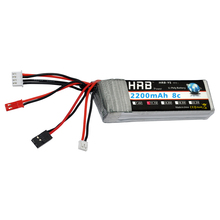 HRB 3S RC Lipo Battery 11.1V 2200mAh 8C max 16C Akku Bateria For RC Transmitter Receiver(China)