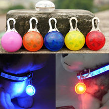Fascinating Pet Dog Cat Puppy LED Flashing Hanging Pendants Collar Safety Night Light Pendant Decorations(China)