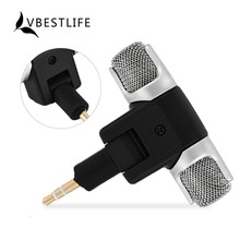 VBESTLIFE Mini 3.5mm Gold-plating Plug Jack Microphone Stereo Mic Universal For Recording Studio PC Laptop MD Camera Microphone