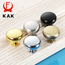 KAK 2.9X2.5CM Size Zinc Alloy Solid Cabinet Drawer Knobs Simple Wardrobe Door Pull Circle Handles Modern Furniture Hardware(China)