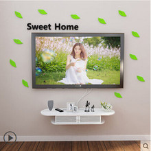 Creative set top box Shelves TV background wall decorative frame The bedroom shelf shelf