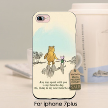 soft black tpu silicone The Winnie Pooh Venice Bear I Love being with You Diy Cell Phone Cover For iPhone se 5s 6s 7 plus case