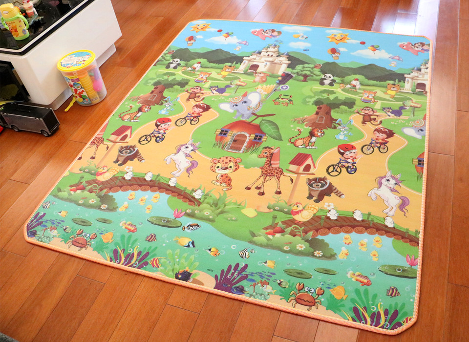 10 mm Thick Double Sides Children Play Mat Waterproof Kids Beach Picnic Mat Soft Eva Foam Carpet Rug Baby Crawling Mat Baby Toy 37