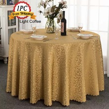 Ship Free 1PC Polyester Jacquard Damask Design Table Cloth for Christmas Holiday Wedding Banquet Table Event Chair Decoration
