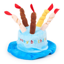 Pet Dog Cat Coral Cashmere Cartoon Accessories Hat Birthday Cake Hat Christmas Hat Halloween Hat(China)