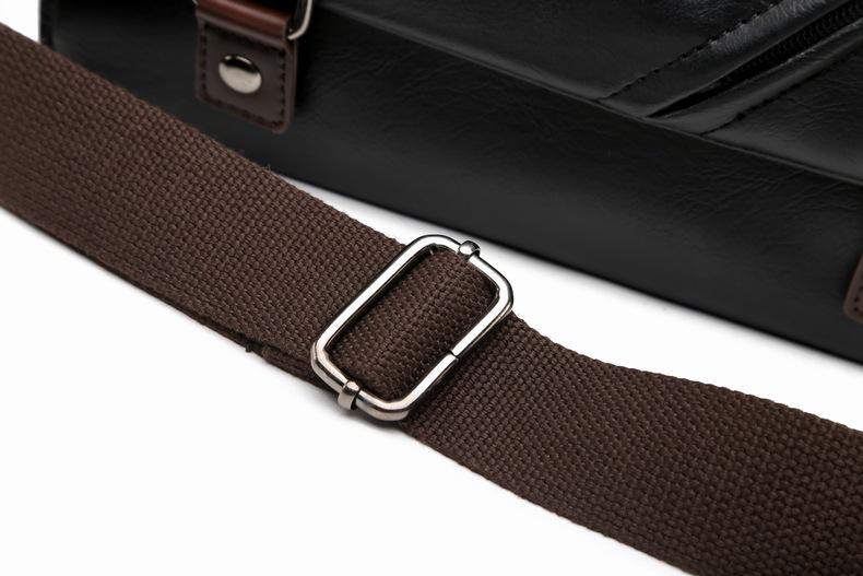 MJ Men\`s Bags Vintage PU Leather Male Messenger Bag High Quality Leather Crossbody Flap Bag Versatile Shoulder Handbag for Men (18)
