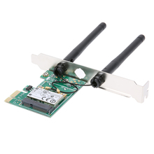 2 Antenna Wireless Wifi 300Mbps LAN Network PCI Express Adapter Card 802.11B/G/N with 32/64-bit PCIE connector