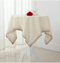 High quality cotton & linen Square Round table colth Lace Crochet tablecloth for Wedding decoration Home textile Cabinet Cover