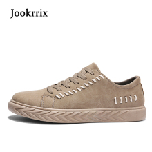 Jookrrix 2018 New Spring Fashion Brand Leisure Shoe Men Sneaker Black Shoe Breathable Lace Up Youth Casual Shoe Khaki All-match(China)