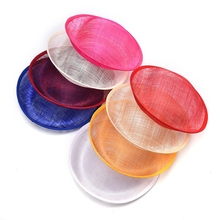 Wholesale 5pcs Sinamay Hat Base Pillbox 24CM Floppy Fascinator DIY Hat Base Kentucky Derby Party DIY Wedding Hat Accessories(China)
