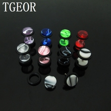 1pair piercing body jewelry 8mm  illusion cheaters marble logo UV Acrylic ear Fake Plugs free shipping