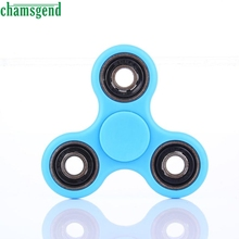 CHAMSGEND funny  Toys & Games Fidget Hand Spinner Light Blue TRI Sided EDC Hand Finger Toy  ADHD Autism may 12 P30