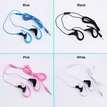 3.5mm earbuds Sport Earclip Clip on Hook Stereo Earphone with mic for Cell Phone support answer/hang on calls play/pause music