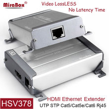 MiraBox HDMI Extender Support 1080p Full HD High Defination Lossless No Delay Over Single cable cat5 cat6 rj45 HDMI Transmitter(China)