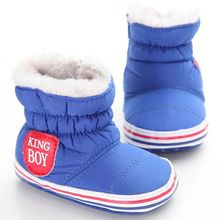 Baby Boots Winter Warm Snow Bootie Soft Soled Crib Shoes First Walker 0-24M