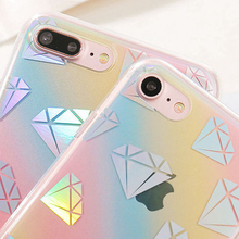 Bling Plating Rainbow Dots Diamond Star Daisy Phone Case Dirt-resistant TPU for Apple 7 7Plus 6 6s 6Plus 6sPlus Back Shell