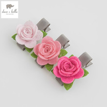 DB4722 davebella girls headwear camellia barrettes(China)