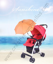 Baby stroller umbrella,baby car umbrellas,hand open.8mm steel shaft and fiberglass ribs,children kid outdoor clamp parasol clip