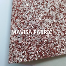 J030-11 30X134cm Rose Gold Chunky Glitter Leather Fabric for making bows shoes handbags and wallpaper Party Decoration