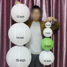 "10 Pieces 6"" 8"" 10""12"" 14"" 16"" White Pink Purple Light Blue Chinese Paper Lanterns Round Paper Ball Lamps Wedding Party Decor"