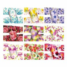 YZWLE 1 Sheet Optional Water Transfer Nail Art Sticker Watermark Decals DIY Decoration For Beauty Nail Tools